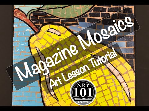 Magazine Mosaics - Art Lesson Tutorial
