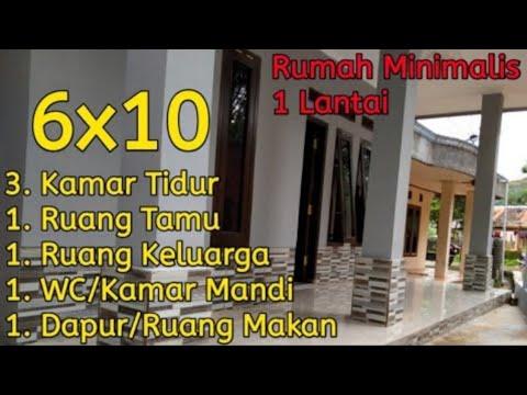 Rumah modern 6x10 minimalis 2020 ,di kampung atau desa ,1 ...