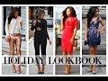 HOLIDAY WINTER LOOKBOOK 2016 | Christmas + Party Outfit Ideas!!