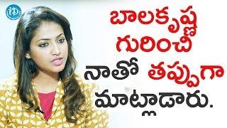 Few People Spoke Negatively About Balakrishna To Me - Hariprriya || Star Talks With Sandy