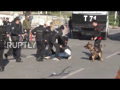 Turkey: Police clash with pro-Kurdish party supporters in Istanbul