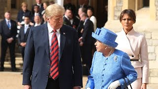 Live: President Donald Trump meets the Queen