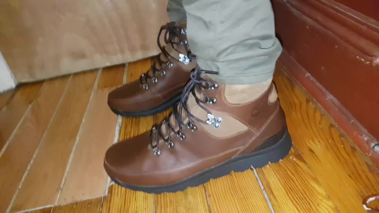 453db3c75a8 Timberland world hiker brown mid on feet