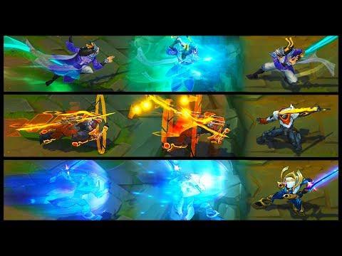 PROJECT Yi vs Eternal Sword Yi vs Cosmic Blade Master Yi Legendary vs Epic Skins Comparison
