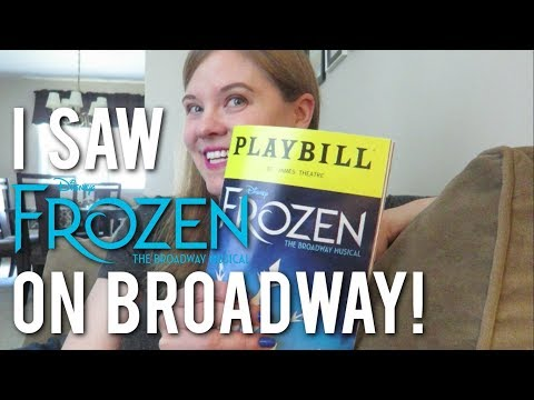 FROZEN ON BROADWAY ❄️ | Review from Me and a Seven Year Old!