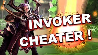 Dota 2 Cheater - INVOKER using AUTO Sun Strike + SPELL SCRIPTS!