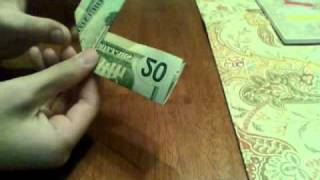 How to fold 20 dollar bill to look like twin towers