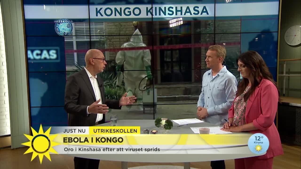 Ebola i Kongo – stor oro att viruset sprids - Nyhetsmorgon (TV4)
