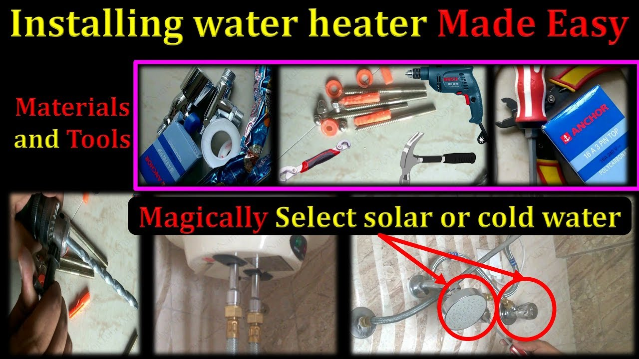 Electric Water Heater Installation Youtube How To Wire