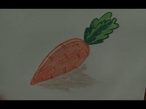 Как рисовать морковь поэтапно