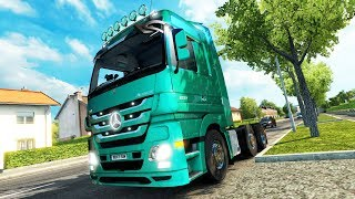 Euro Truck Simulator 2 Mercedes Actros MP3 Reworked v2 1 Test Drive Thursday 148