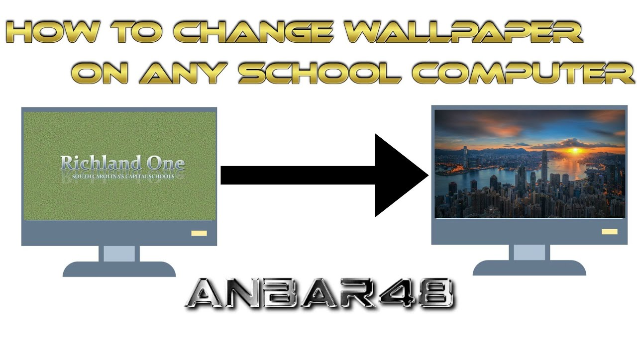 """aœ""""i¸how to change any school computer wallpaper works 100aœ"""" youtube"""