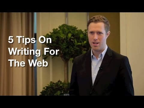5 Tips On Writing For The Web