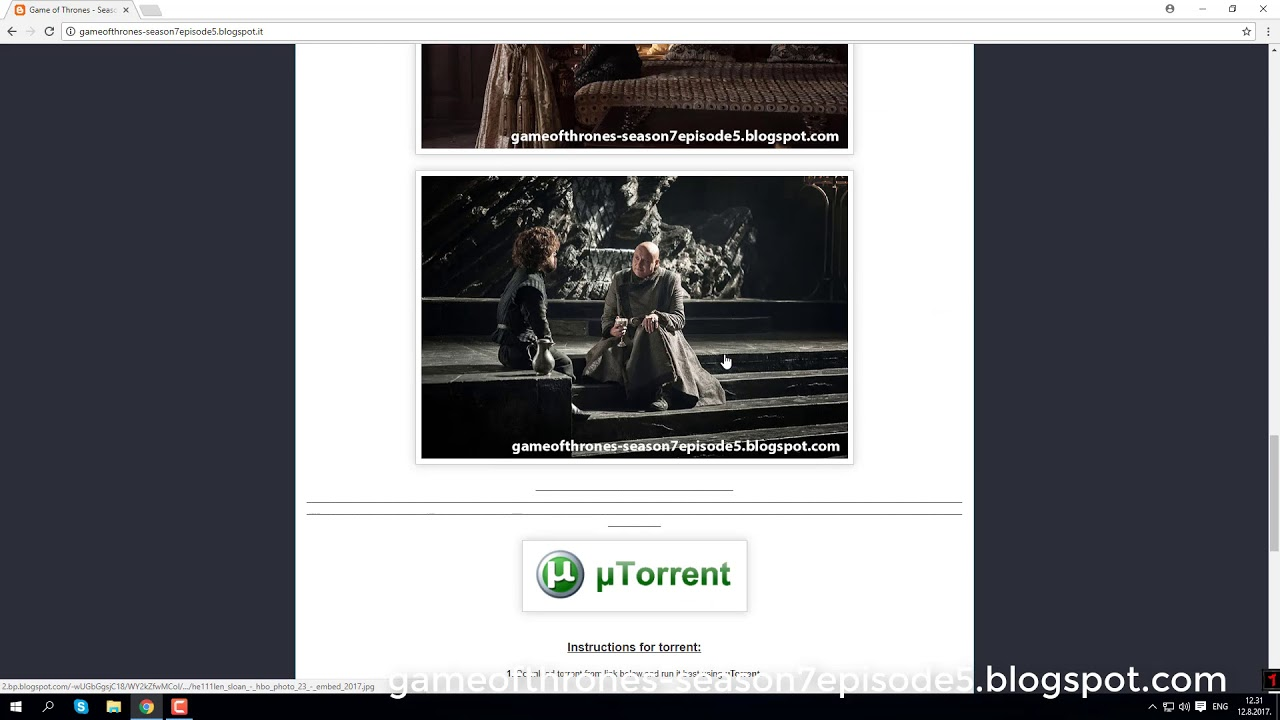 the game of thrones s07e05 torrent
