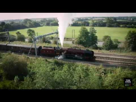 Duchess of Sutherland Captured From The Air - Drone Oxfordshire