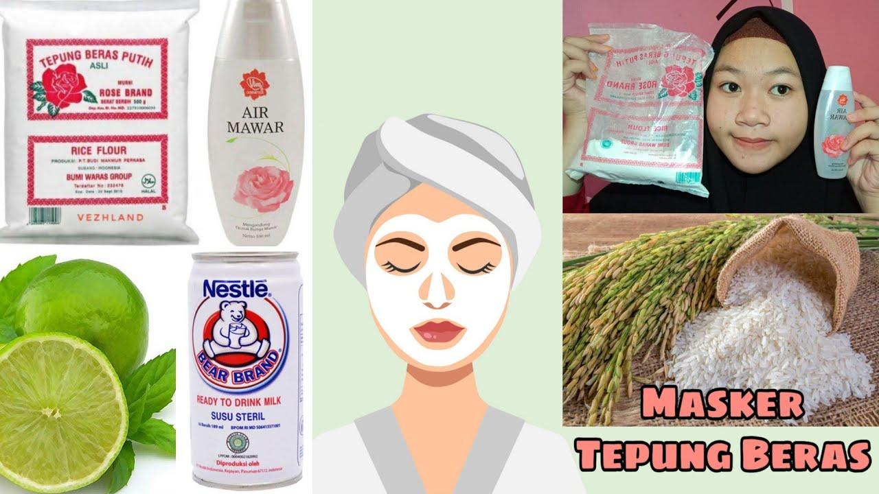 Masker Tepung Beras Dan Air Mawar Rose Brand Viva Youtube