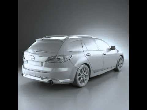 3D Model of Mazda 6 Wagon 2011 Review - YouTube