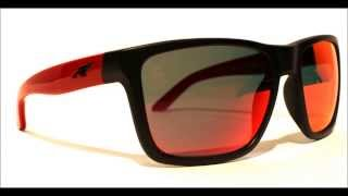 ARNETTE Witch Doctor X SLAYER Collaboration Sunglasses Black Red w Red Mirror Lens