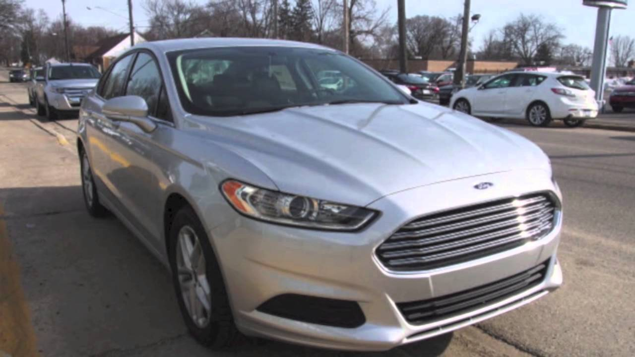 2014 Ford Fusion Se Silver 24 650 Youtube