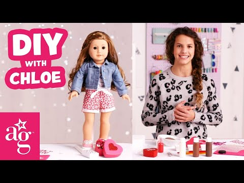 Mini Box Of Chocolates For Valentine's Day   Doll DIY   American Girl