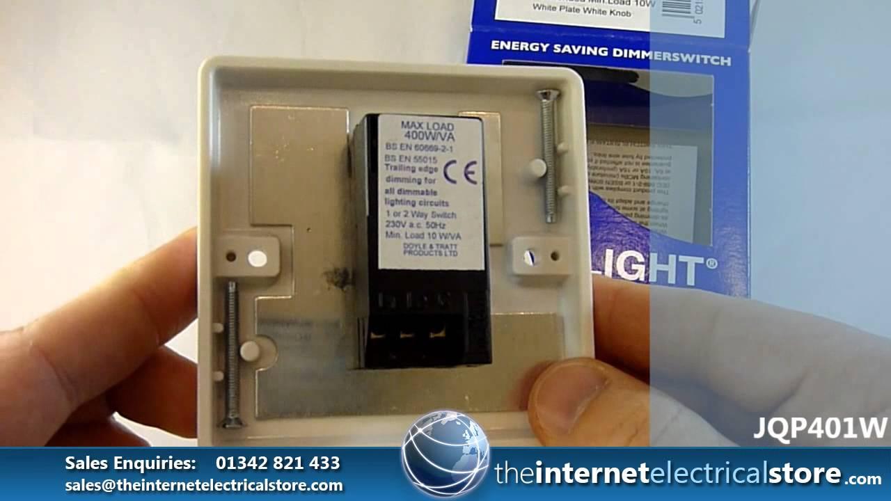 2 Way Dimmer Wiring Diagram Detailed Digestive System Varilight V Pro 1 Gang 400 Watt Push On Off Led Light Switch White Plastic Jqp401w