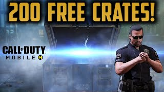 PULLING 200 FREE CRATES in COD MOBILE!