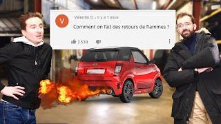 POURQUOI CERTAINES VOITURES FONT DES FLAMMES ? (r.a.q. #4)