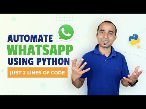 Automate WhatsApp message    Hack WhatsApp    WhatsApp trick    Learn Python    Python Project