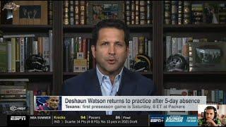 Adam Schefter reacts to Deshaun Watson returns to practice after 5-day absence