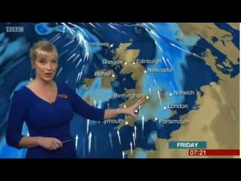 Stomach Rumbling!  Carol Kirkwood BBC Weather 28/10/15