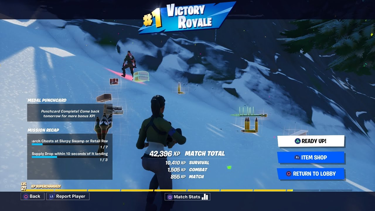 FORTNITE BATTEL ROYAL: FULL MATCH GAMEPLAY WITH VICTORY