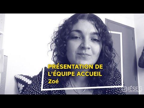 Portraits De L'équipe Accueil - Zoé - IÉSEG
