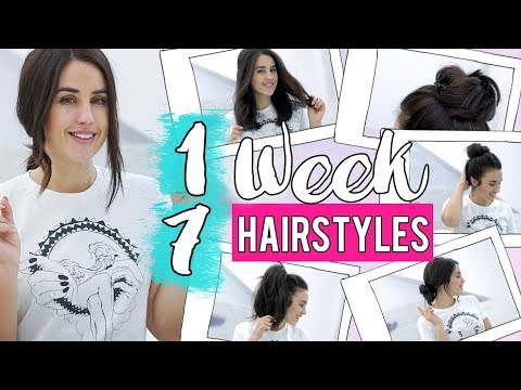 My easy everyday hairstyles | 1 WEEK 7 HAIRSTYLES | Patry Jordan