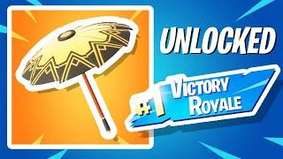 How I Won The NEW GOLD Fortnite Umbrella..