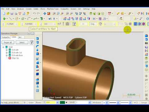 TFM - Mastercam Solid Modeling - Extrude