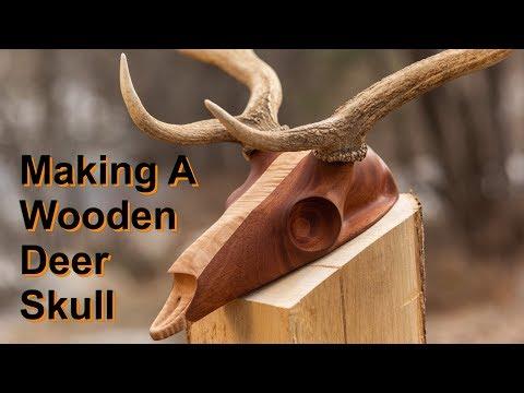 Carving A Deer Skull - European Mount Shed Antlers