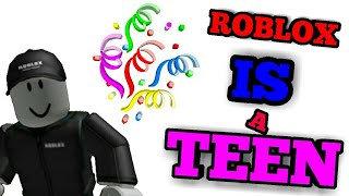 """HAPPY 🎂 Birthday Robloxxx!!: """"Roblox is a teenagerr!!!""""."""