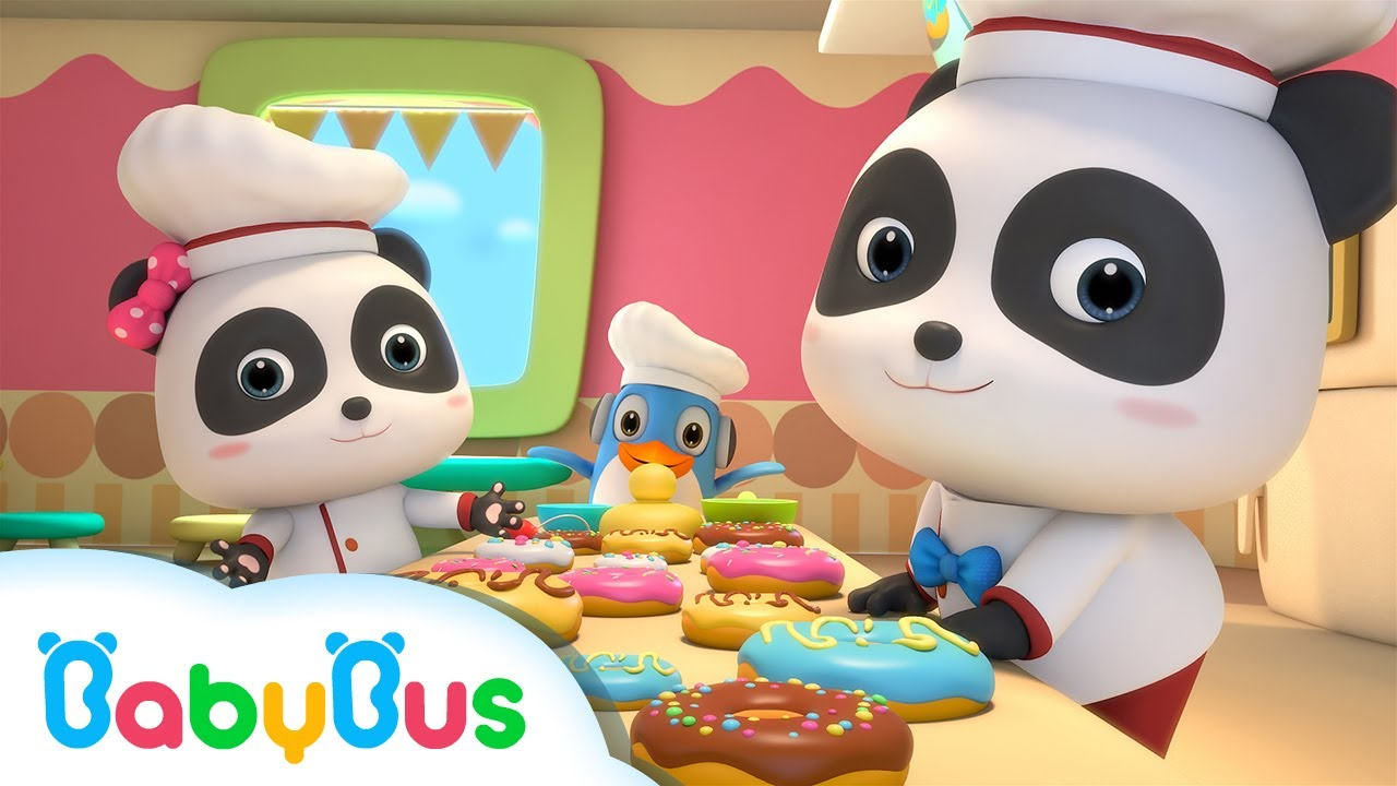 ❤ Baby Panda Donut Shop | Animation & Kids Songs collections For Babies | BabyBus