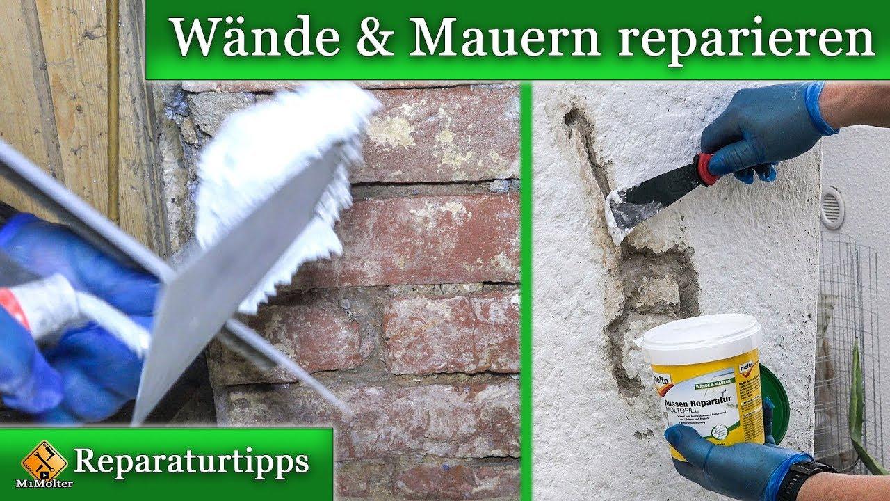 Berühmt Wände und Mauern mit Molto reparieren. - YouTube #CC_74
