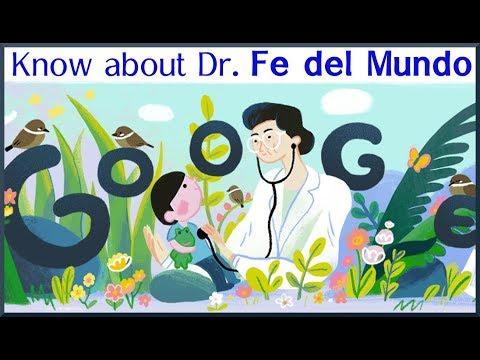 Google Shows Doodle For Fe Del Mundo | Short Biography Of Dr. Fe Del Mundo
