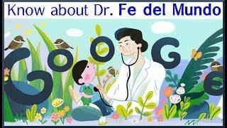 Google shows Doodle for Fe del Mundo   Short Biography of Dr. Fe del Mundo