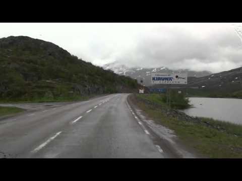 Border Norway - Sweden in Lappland (Grenze Norwegen - Schweden) between Narvik and Kiruna