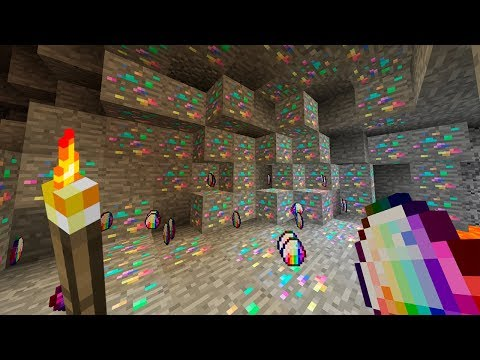 ¡¡ DIAMANTES DE ARCOIRIS EN MINECRAFT !! | Survival Minecraft