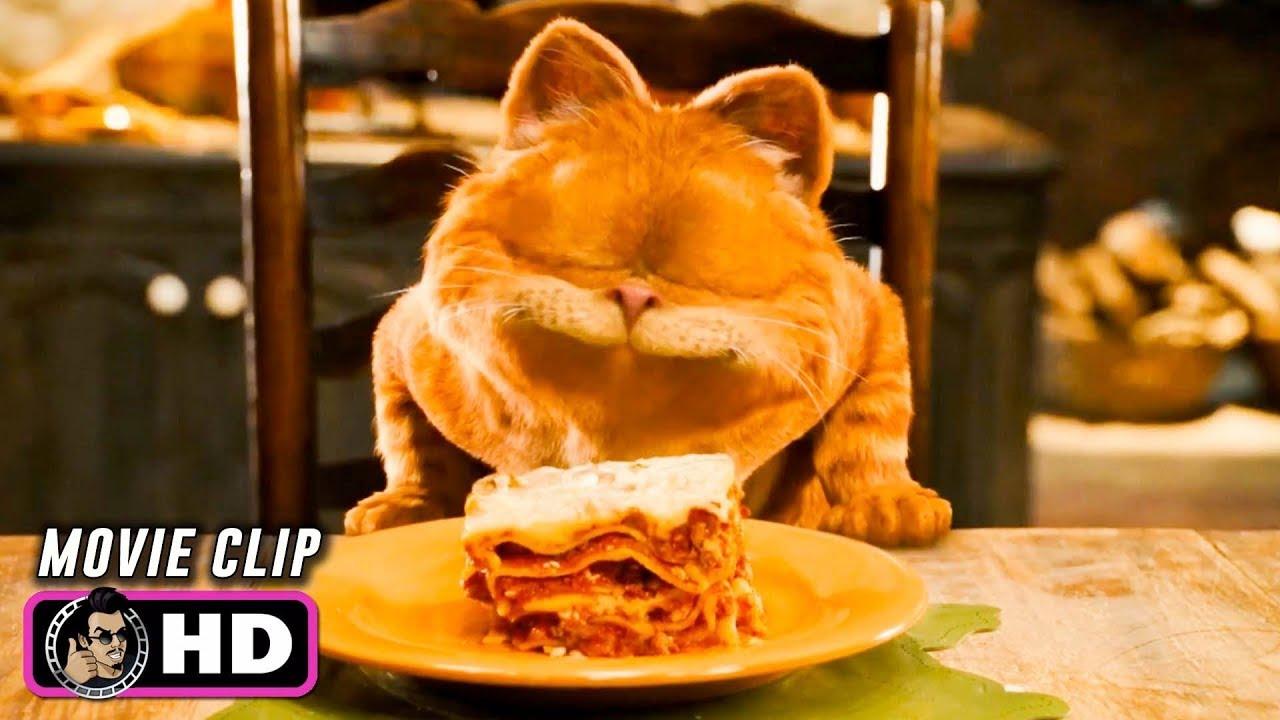 Garfield A Tail Of Two Kitties Clip Lasagna Dance 2006 Bill Murray Youtube