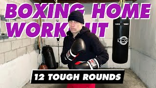 12 Tough Heavy Bag Rounds (combos are listed at beginning of round, and are in description below)
