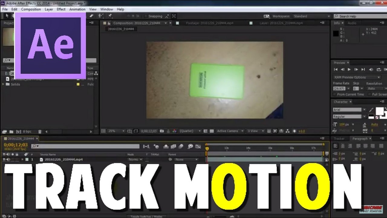 adobe after effect cc motion tracking tutorial bahasa indonesia