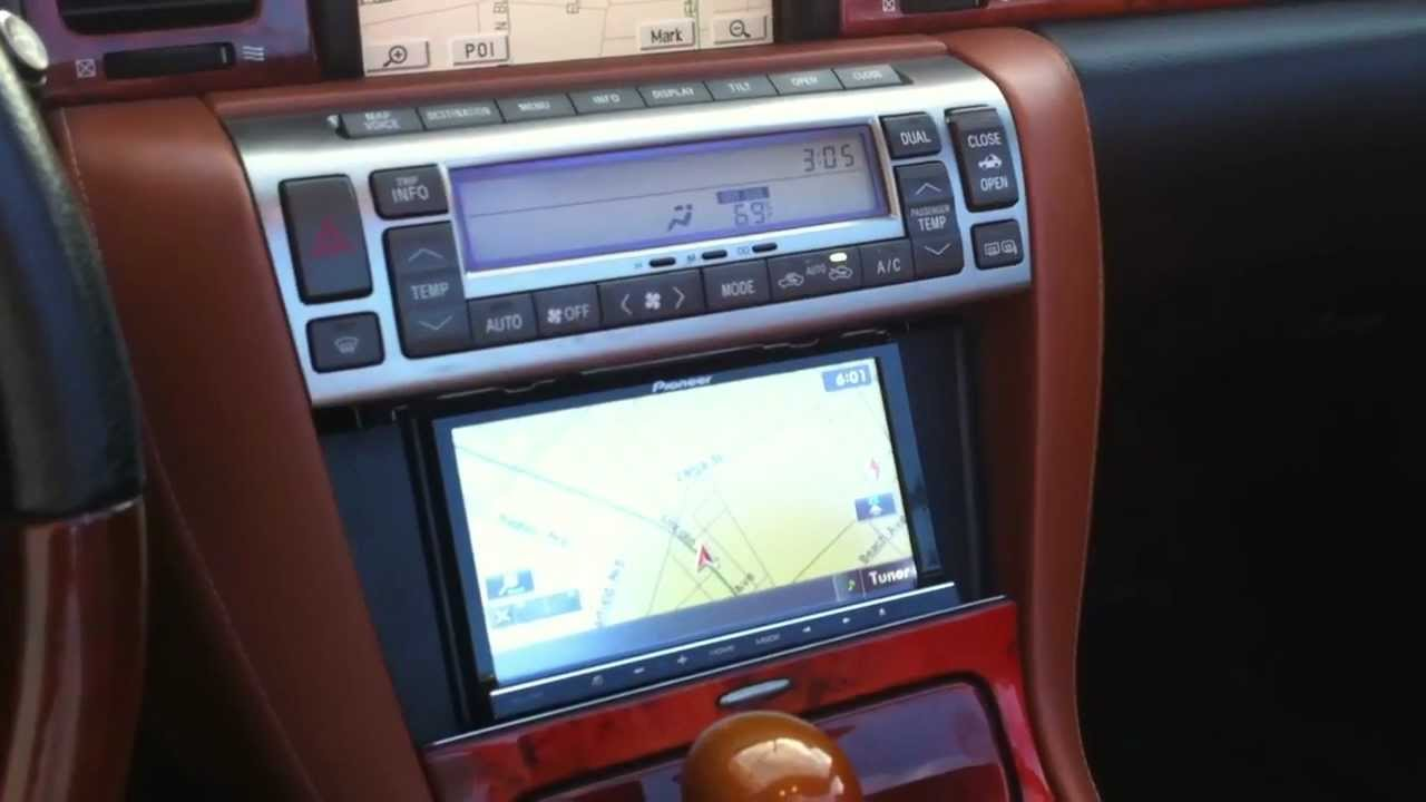 2004 LEXUS SC430 Navigation upgrade PIONEER AVICZ130BT