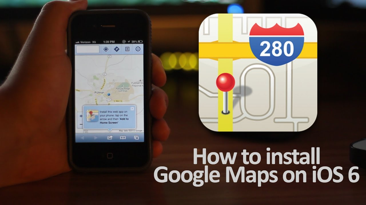 cant install google maps on iphone