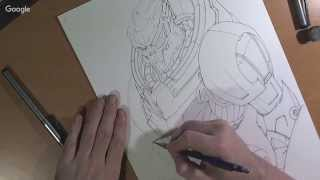 Realtime: Mass Effect Drawing - Garrus