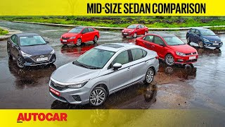 City vs Verna vs Ciaz vs Vento vs Rapid vs Yaris - The Best Sedan Is... | Comparison | Autocar India